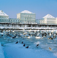 Мюнхен. Замок Нимфенбург зимой